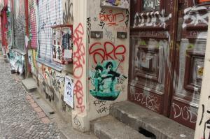 Typická ulice v Kreuzbergu